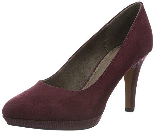 s.Oliver 22406, Zapatos de Tacón para Mujer Rojo (BURGUNDY 507)