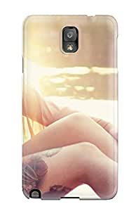 Galaxy Note 3 Case, Premium Protective Case With Awesome Look - Cool Tattoo Girl