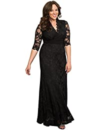 Womens Plus Size Screen Siren Lace Gown