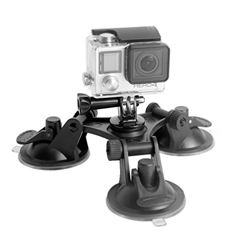 Fantaseal-Super-Tri-Cup-Suction-Mount-for-Nikon-Canon-Pentax-Sony-More-DSLR-Camera-GoPro-Session-Hero4-3-3-2-SJ4000-SJ5000-Xiaoyi-Sony-Action-Cameras