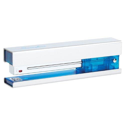 Swingline Metal Fashion Stapler, Full Strip, 20 Sheets, Chrome/Blue Accent (S7087830) - Full Color Metal