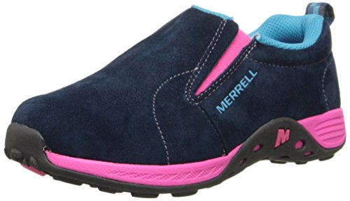Merrell Jungle Moc Sport Fashion Sneaker (Little Kid/Big Kid),Navy/Pink,3 M US Little (3 Moc)