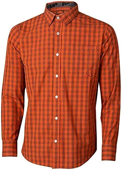 KTM Factory Team - Camisa de cuadros para hombre: Amazon ...