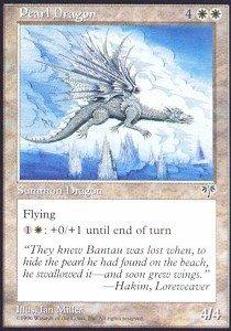 - Magic: the Gathering - Pearl Dragon - Mirage