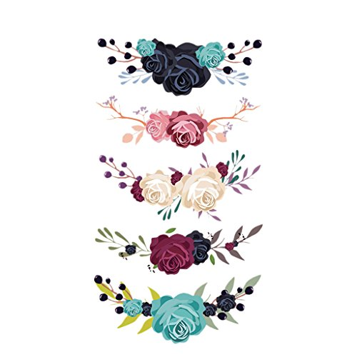 BloomingJS Floral Ribbon Embroidered Sticker Patch Appliques Iron On For Dress Shirt Hat Jeans DIY