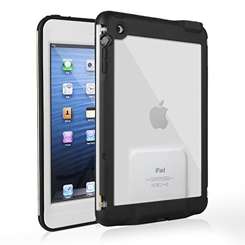 iPad Mini 3 Waterproof Case, Merit Waterproof Shockproof Case for iPad Mini, iPad Mini 2, iPad Mini 3, iPad Mini Retina (White)