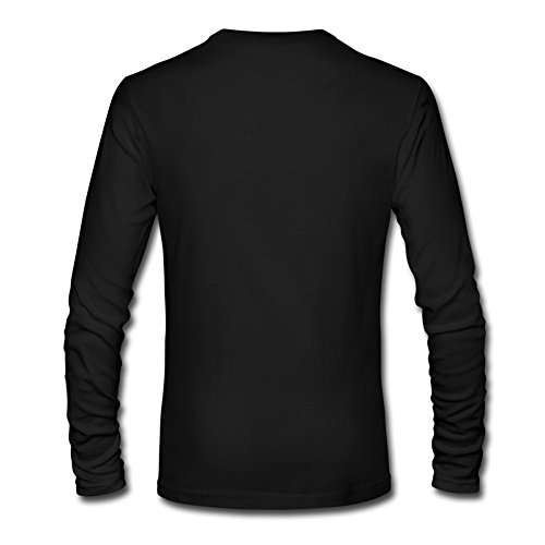 RUIFENG Men's Binding Isaac Long Sleeve T-shirt Size S Black