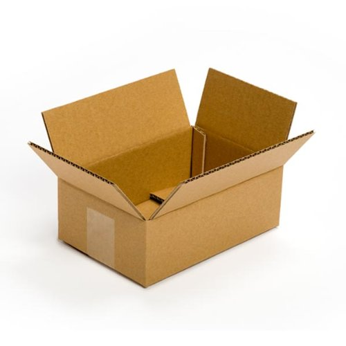 Pratt PRA0022 Recycled Corrugated Cardboard Single Wall Standard Flat Box with C Flute, 9