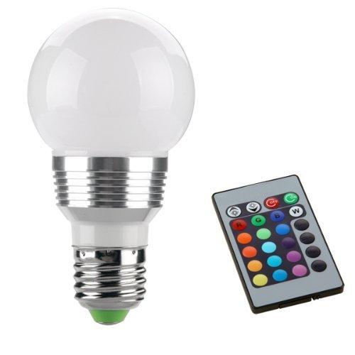 Sonline E27 3W Projecteur ampoule lampe Lumiere de tache spot avec telecommande RGB 230