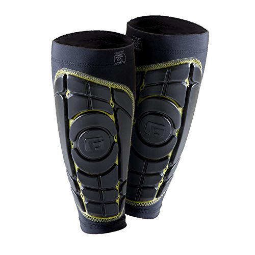 G-Form Pro-S Elite Shin Guards, Black/Yellow, Medium