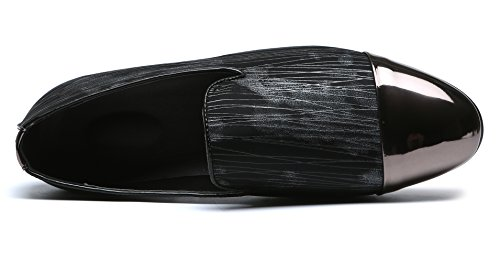 Or Chaussures Santimon Chapeau Fumer Orteil Pantoufle Glissent Acier Les Soirée Mode Sur Gris Hommes Mocassins Mocassins n54qwT6xY