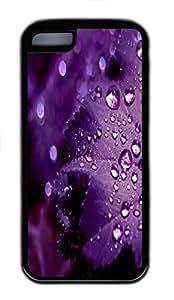 iPhone 5C Case,Purple Leaf TPU Custom iPhone 5C Case Cover Black