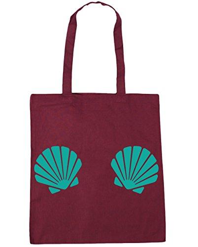 HippoWarehouse - Bolsa de playa de Algodón  Mujer granate