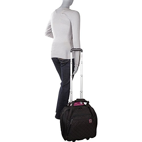 DELSEY Paris Underseater, Black (Under Seat Rolling Carry On)