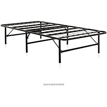 Amazon.com: LUCID Foldable Metal Platform Bed Frame and Mattress ...
