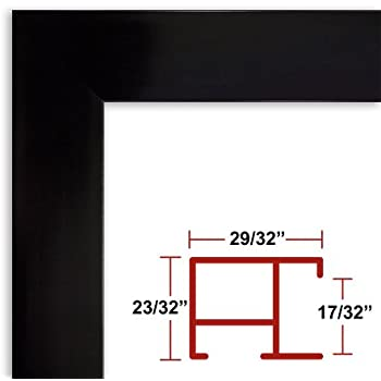 Amazon.com - 32 x 48 White Poster Frame - Profile: #93 Custom Size ...
