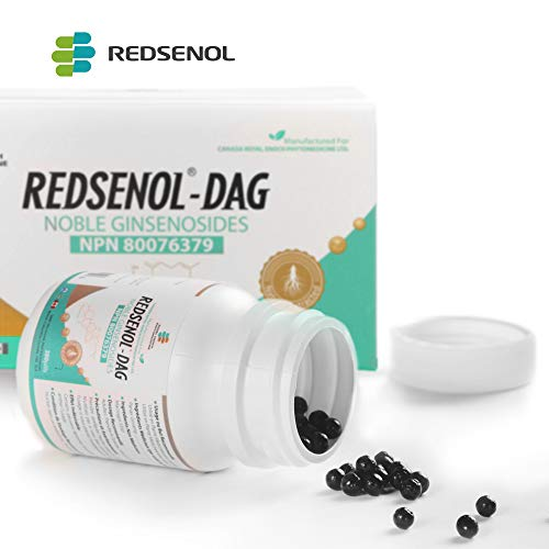 Redsenol-DAG Sublingual Pills–8 Rare Ginsenosides:Rk2 Rh3 aPPD Rg5-14% Rare Ginsenosides-2 Bottles