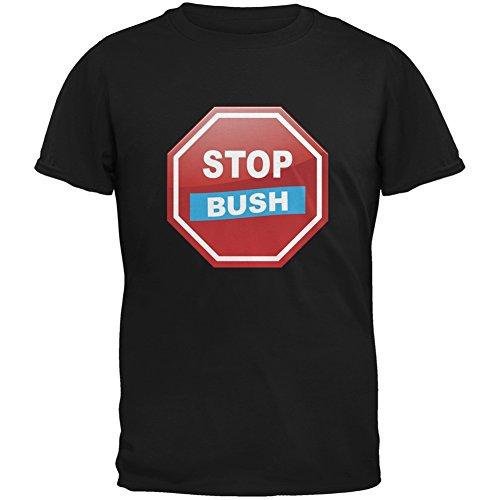 Election 2016 Stop Bush Black Adult T-Shirt - X-Large (Stop Bush T-shirt)