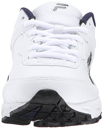 Fila Memory Sportland Piel Zapato para Correr White-Fnvy-Mslv