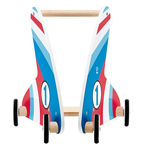Hape Racing Stripes Wooden Push and Pull Walker