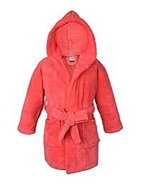 Ultra Soft and Cozy Kids Plush Hooded Fleece Robe