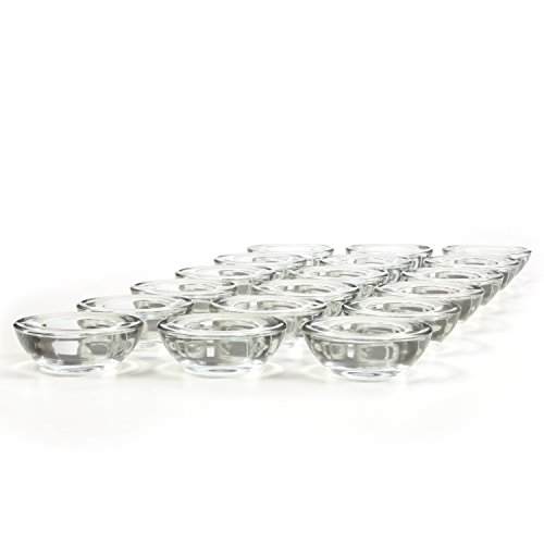 Hosley Set of 18 CLEAR Glass LED Tea Light Holders - 3'' Diameter. Ideal Gift for Weddings, Party, Spa, Reiki, Meditation, Votive Candle Gardens. O3 by Hosley (Image #7)