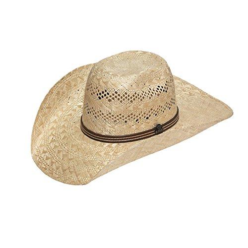 ARIAT Men's Sisal Band Hat, Natural, 7 1/8 (Sisal Straw)