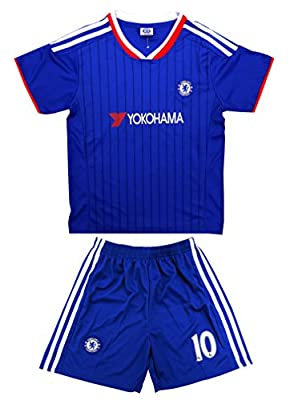 2015/2016 Chelsea Fc Home #10 Hazard Football Soccer Kids Jersey & Short