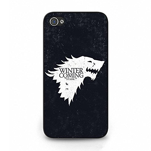 Special Schwarz Background Game Of Thrones Phone hülle Handyhülle Retro Phone Cover for Iphone 4 4s,Telefonkasten SchutzHülle