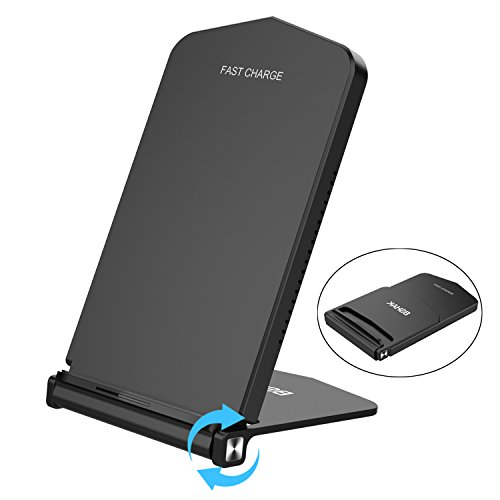 BSHAK Wireless Charger,Fast Wierless Charger Stand for iPhone 8 8plus X/Samsung Note8/S8/S8+/S7 edge/S7/Note5 S6 eduge plus/S6 edge/S6