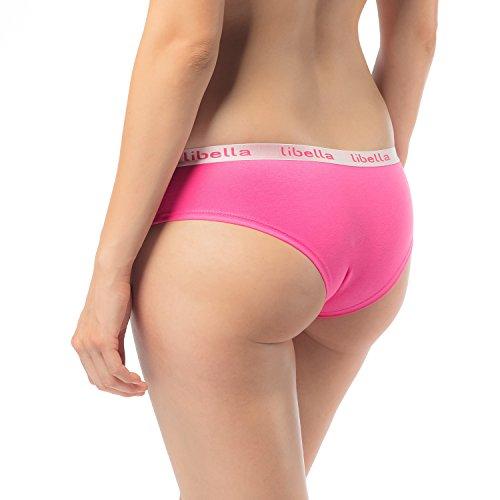 6er Pack Panties Hipster Damen Boxershorts Baumwolle in leuchtende Farben Libella 3409