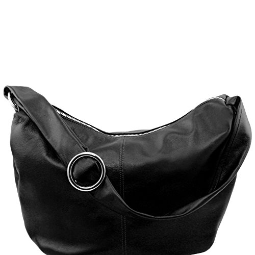 Leather Black Bag Hobo n Leather 81409004 Tuscany Yvette 7xHx60