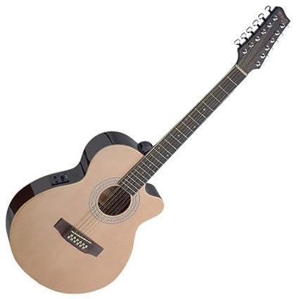 Stagg sa40mjcfi/12-bk Guitarra Electroacústica: Amazon.es: Instrumentos musicales