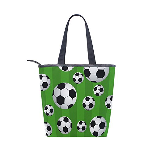 Womens Football Handbag Tote Bag Canvas Soccer MyDaily Ball Shoulder Y801Tw