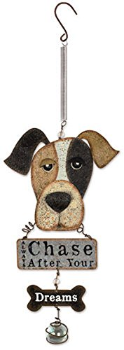 Sunset Vista Designs Dog Bouncy Hanging Decoration with Sign Hanging Yard Art