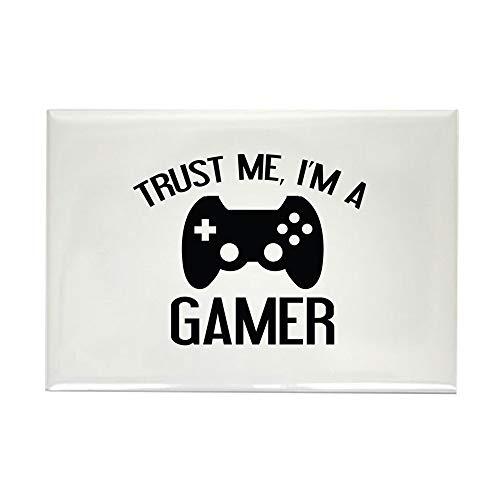 CafePress Trust Me, I'm A Gamer Rectangle Magnet, 2