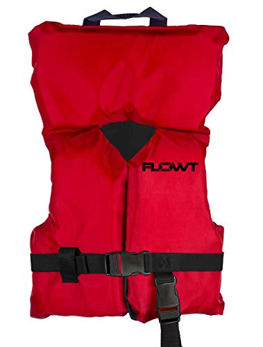 Flowt Multi Purpose 40202-2-INFCLD Multi Purpose Life Vest, Type II PFD, Red, Infant / Child, Fits 0 - 50 lbs (Type 2 Vest)