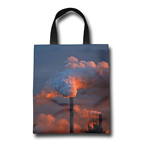 BNRIBNA Chimney Fireplace Reusable Shopping Grocery Tote Bag Beach Tote Foldable Shopping Bag by BNRIBNA