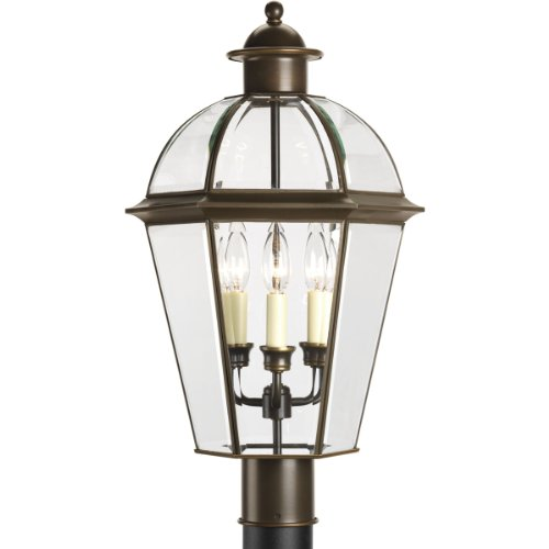 UPC 785247543113, Progress Lighting P5431-20 Six-Sided Danbury Post Lantern, Antique Bronze