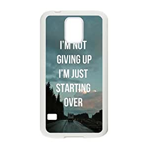 Personalized Creative Cell Phone Case For Samsung Galaxy S5,I 'm not giving uo I'm just starting over