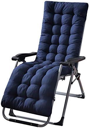 SKRCOOL - Cojín completo para hamaca, silla de jardín, mecedora o tumbona, cubre el respaldo, el asiento y los pies, diseño plegable para sillas reclinables, antideslizante, lavable, algodón, azul marino, 170x50cm(67x20inch): Amazon.es: