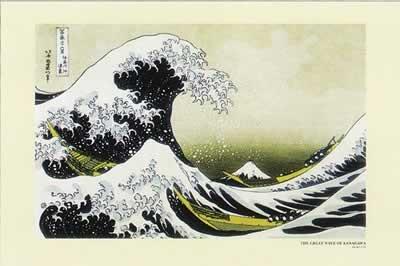 Pyramid Great Wave of Kanagawa Poster Print