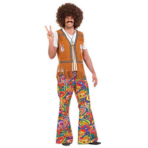 fun shack Women's Mens Hippie Paisley Flared Trousers, - Hippie Paisley