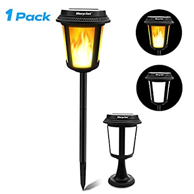 Keenstone Outdoor Solar Torch Lights, 2 Installations, 4 Lighting Effects Solar Lights Pathway Landscape Decoration Lighting Dusk to Dawn Auto On/Off, 1 Pack
