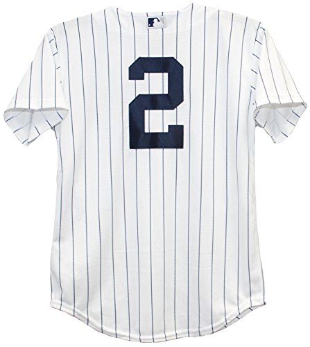 Derek Jeter New York Yankees Home Pinstripe Youth Baseball Jersey (XL (18-20))