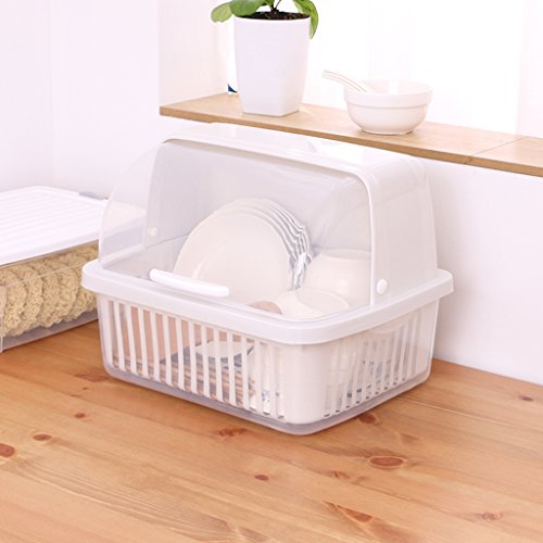 Dish Rack Plastic Storage Shelf Tableware Storage Box Kitche