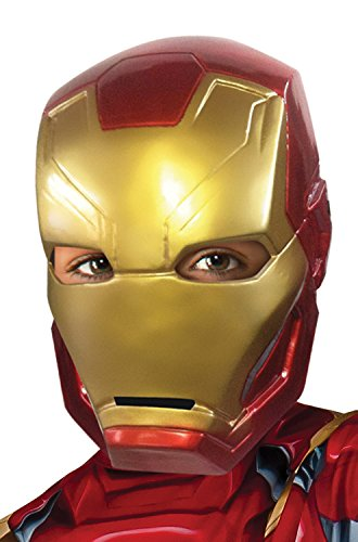 [Rubie's Costume Captain America: Civil War Kid's Iron Man Half Mask] (Halloween Costumes Iron Man)