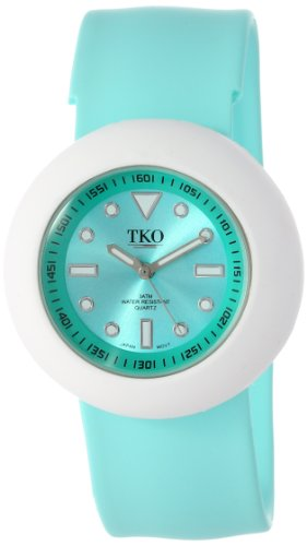 TKO ORLOGI Women's TK590-TWT Turquoise Rubber Slap Watch ()