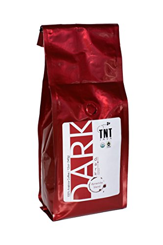 Pitch-dark Roast Ground Coffee, Fresh Roasted Artisan Coffee - Dark Roast Ground Arabica Coffee By TNT JAVA - Smooth And Flavorful, No Robusta Beans, 100% Arabica Beans, 12oz(340g), Even-handed Trade, Organic