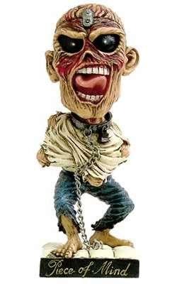 Hand Painted Bobble Head - Neca - Iron Maiden Bobble Head Eddie Piece of Mind 19 cm